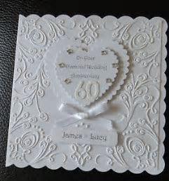 Luxury Diamond Wedding 60th Anniversary card Personalised