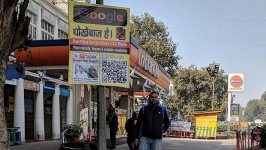 Irked by Google's after-sales service, Pixel user puts up anti-Google posters in Delhi - Gizmochina