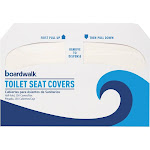 Boardwalk Premium - Toilet seat cover - paper - 250 sheets - half-fold - white (pack of 4)
