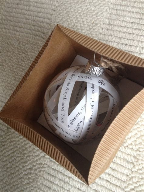 Personalised Bauble in Muffin Box   Baubles   Pinterest