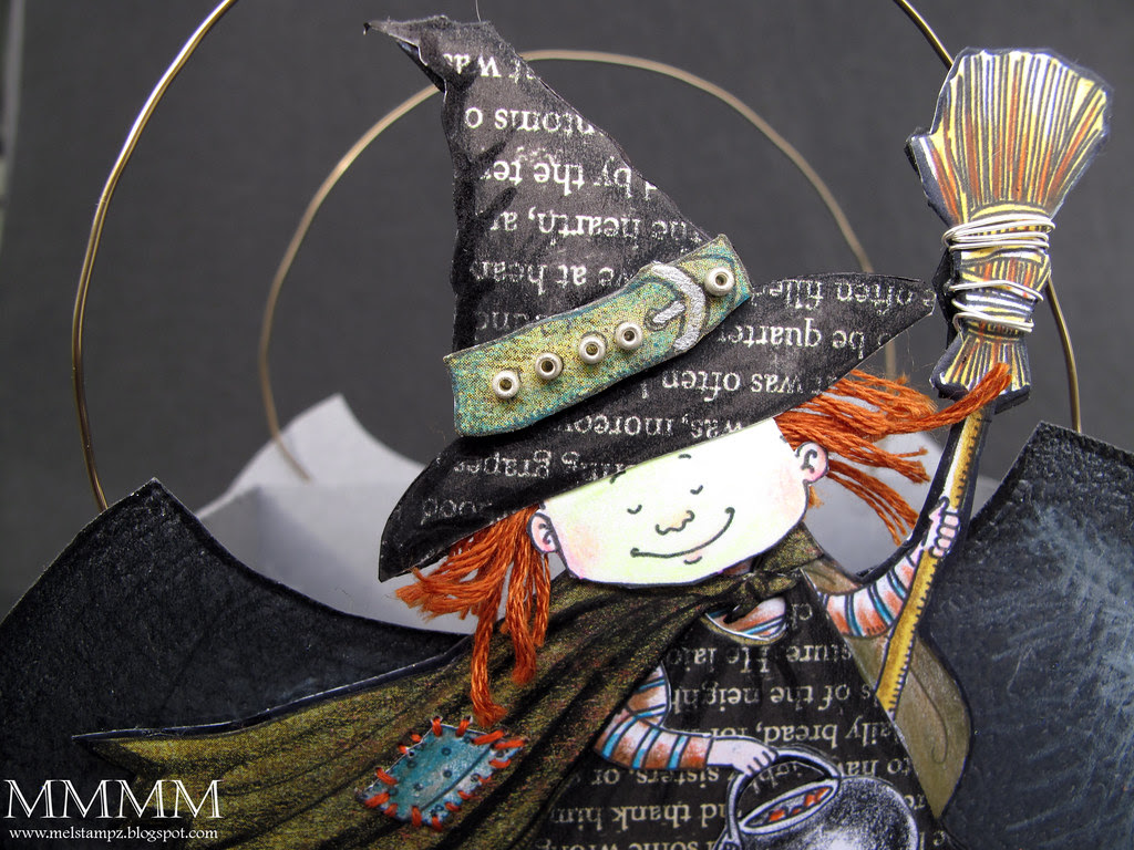 Trick or Treat Mo's Digital Pencil freebie CLOSE witch mel stampz