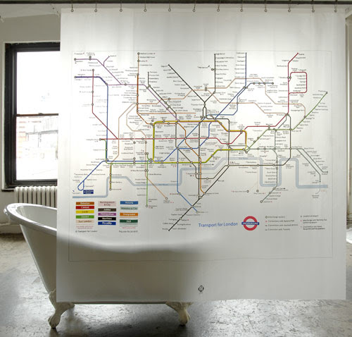 London Underground Shower Curtain - Design Milk