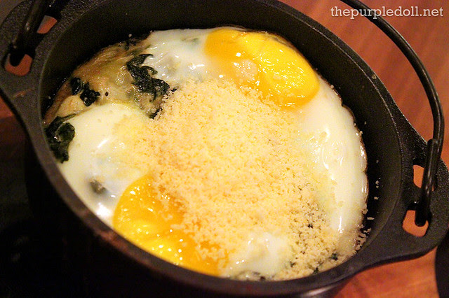 Parmesan Creamed Spinach with Organic Egg