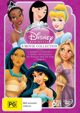 Disney Princess 6 Film Collection by Buena Visa Home ...