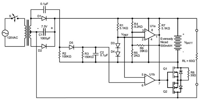 Simple Battery Charger Circuit Without Transformer