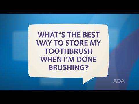 Ask the Dentist by the ADA: 'How Should I Clean and Store My Toothbrush?'