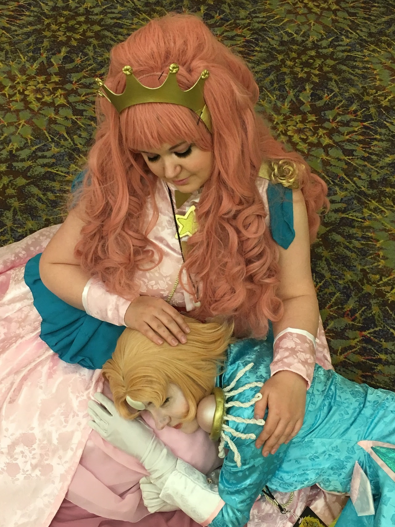 -@courtingstars as Revolutionary Pearl Utena -Me ( @spinelstar ) as the Rose Quartz Bride -Costumes and makeup by me, concept and accessories by @courtingstars Unfortunately we weren't allowed to...