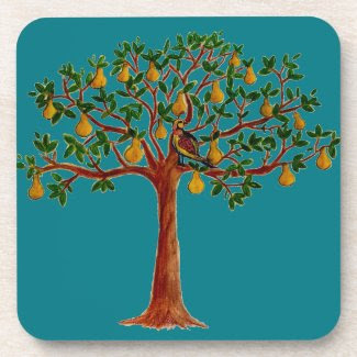 Partridge in a Pear Tree Too Coasters (set of 6)