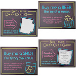 30 Pack Bachelor Party Scratch-Off Cards Game Favors Supplies for Men, 4 x 3 inches