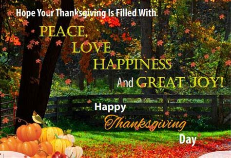 Filled With Peace, Love And Joy! Free Happy Thanksgiving