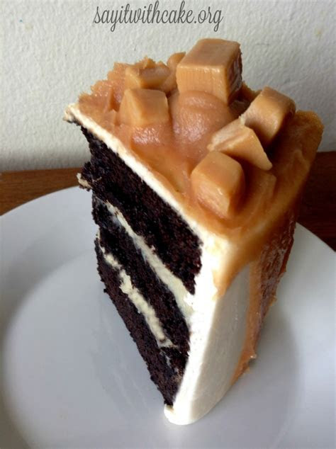 Salted Caramel and Chocolate Mud Cake ? Say it With Cake