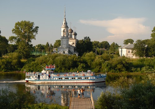 On the banks of Vologda river