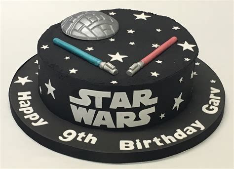 Black Buttercream Star Wars Cake   Boys Birthday Cakes
