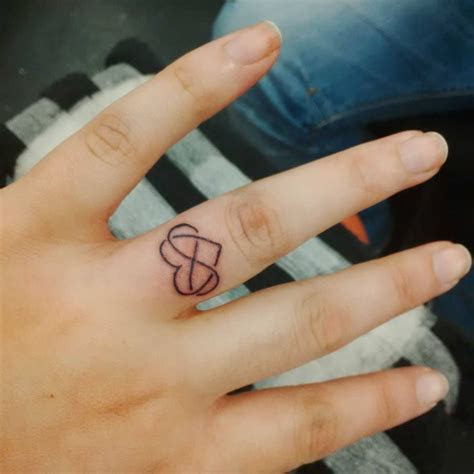 Tattoo 9. An infinity / eternity symbol & heart, on my