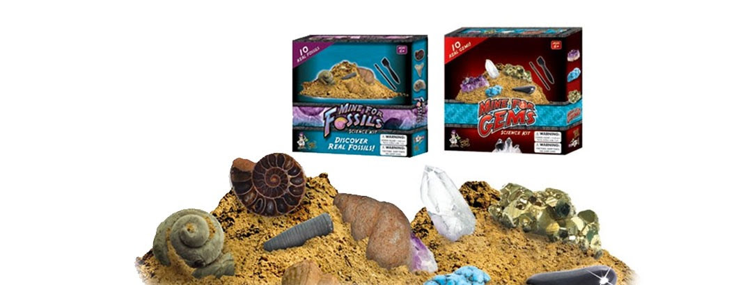 Gem & Fossil Dig Kits - Your Choice