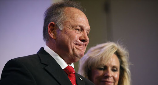 BREAKING: Roy Moore Fondles Latest Exit Poll Poll accuses U.S. Senate candidate of improper contact steps away from voting booth.