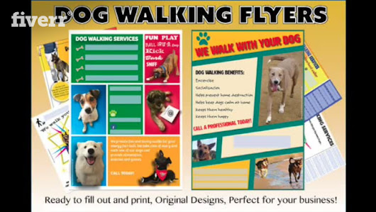 send you 4 CUSTOMIZABLE dog walking flyers - fiverr