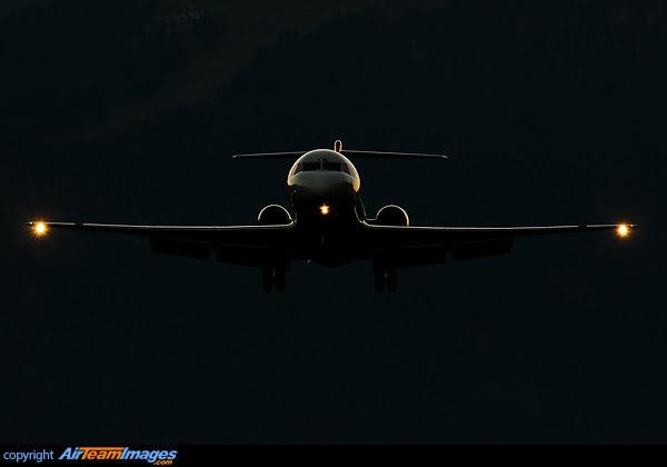 Fokker 100 Silhouette
