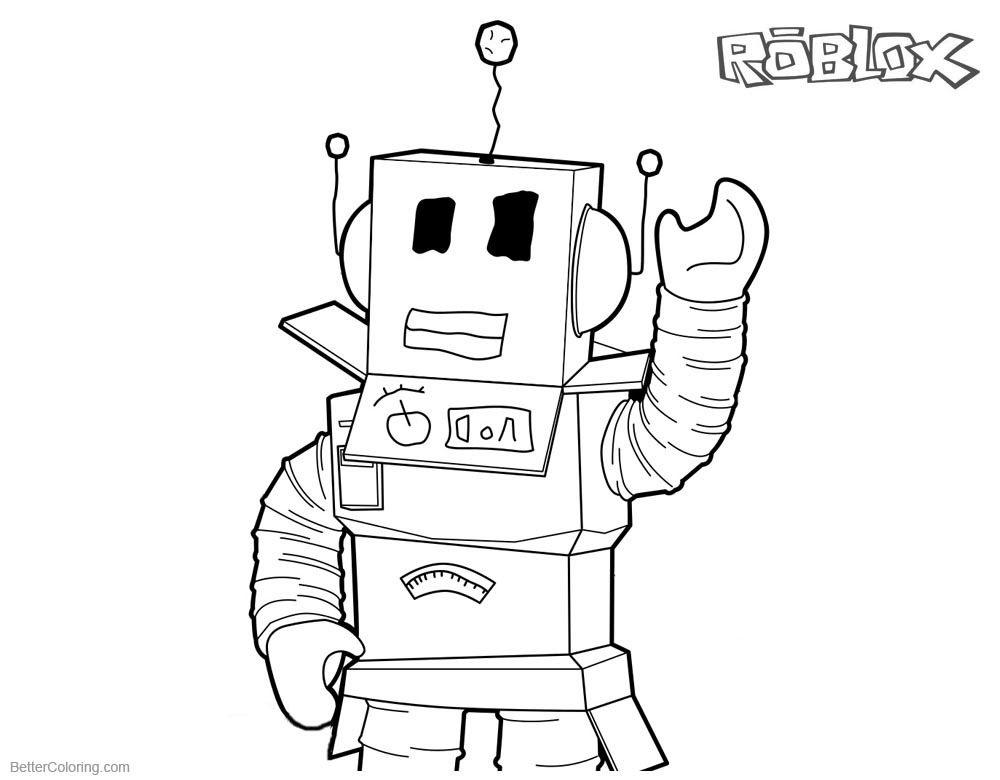 Coloring Pages Roblox Sketch Coloring Page
