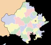 भारत के मानचित्र पर राजस्थान