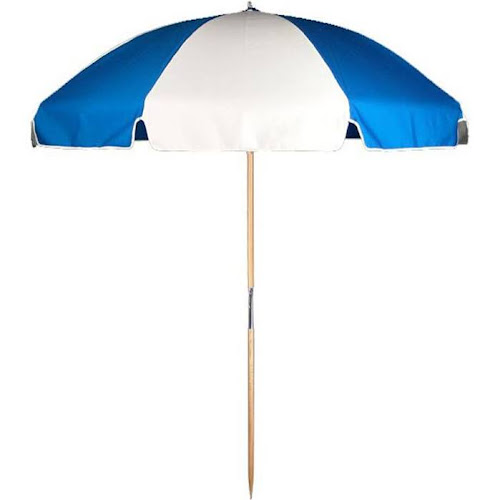 Frankford Umbrellas 7 5 Ft Steel Commercial Grade Beach Umbrella With Ash Wood Pole Acrylic Fabric