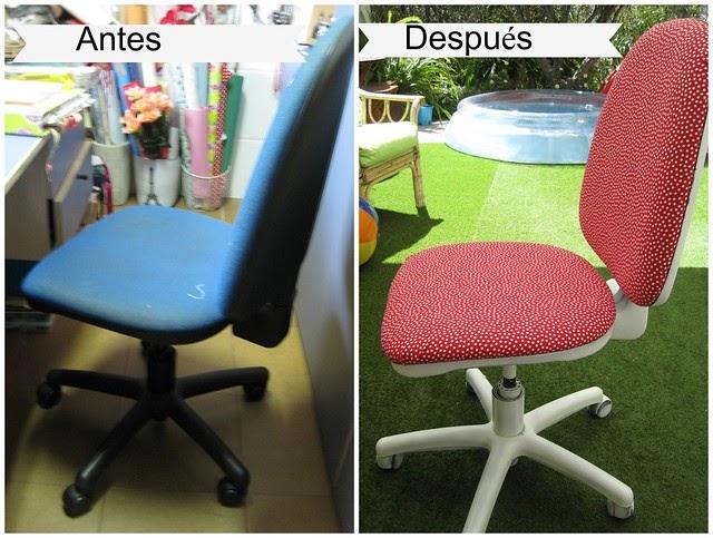 Atelier craft diy tapizar una silla de forma f cil - Tapizar una silla ...