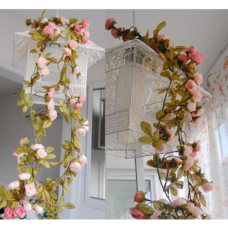 Artificial Fake Silk Rose Flower Vine Hanging Garland Wedding Party Home Decor eBay