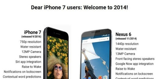 Dear iPhone 7 Users: Welcome to 2014! – Sincerely, Android Users