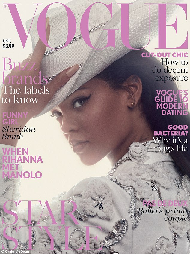 Hey there cowgirl! Shot by Craig McDean, Rihanna fronts the April issue of British Vogue - on sale March 10