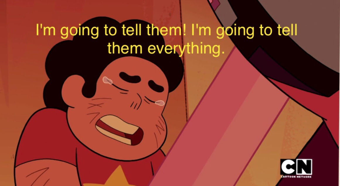 Can we please talk about how important this scene was? Like, Steven always feels like he's being pressured for not being like his mother. he feels guilty because the gems no longer have a leader. he...