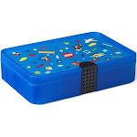 LEGO Sorting Box Brick Storage with Organizing Dividers | Blue