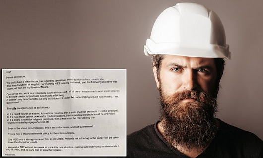 Building firm Mears bans beards for health and safety reasons