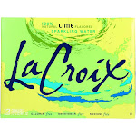Lacroix Sparkling Water - Lime - 12 Fl Ounce - PACK OF 12