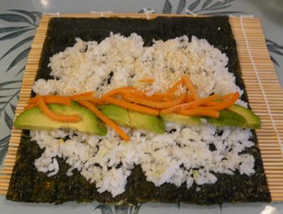 Avocado & Carrot Sushi