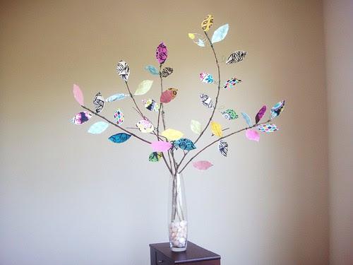 Fabric Leaf Tree