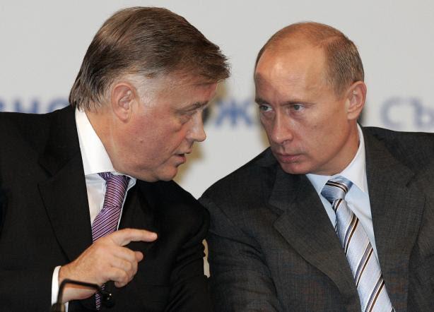 Vladimir Yakunin y Vladimir Putin