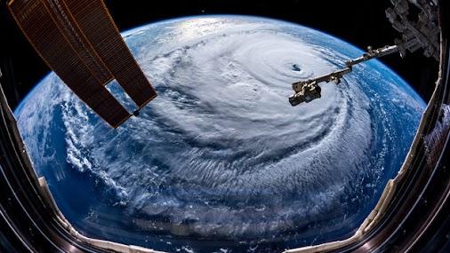 Hurricane Florence Hurricane Florence wide-angle  ESA astronaut Alexander Gerst took this image of Hurricane...