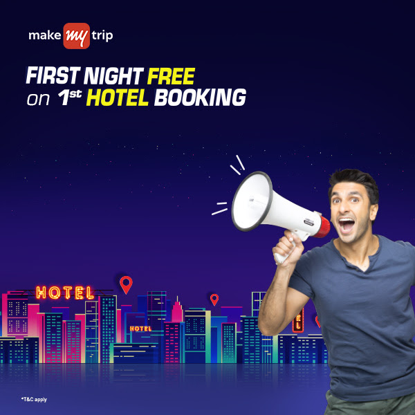 make my trip first night free on 1st hotel booking