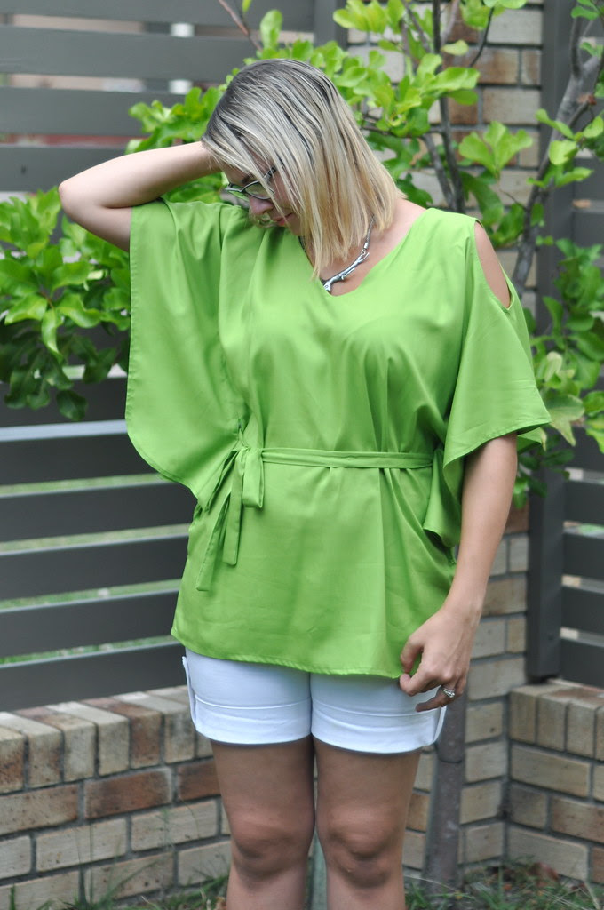 victory patterns satsuki top dress casual summer green