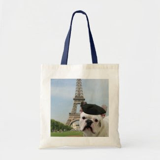 French Bulldog in Paris tote bag