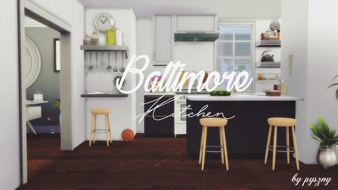 Baltimore Kitchen new set at Pyszny Design » Sims 4 Updates