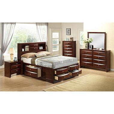 Bohemian Platform Bed Motif Design Aura Deluxe Platform Bed Gold