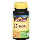 Nature Made Vitamin D3 2000 Iu Tablets - 100 Ea