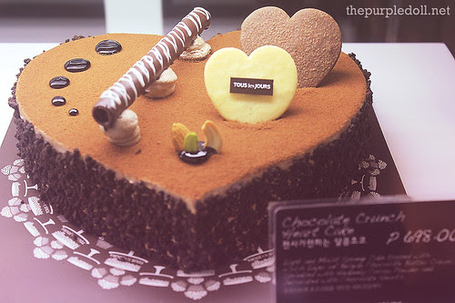 Chocolate Crunch Heart Cake