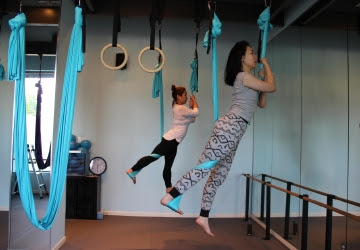 aerial yoga poses advanced  yogawalls