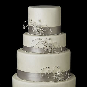 3 Vintage Silver Crystal Rhinestone Floral Swirl Wedding