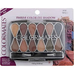 Colormates 12 Pan Eyeshadow Palette, Fancy I 8103, 0.38 oz
