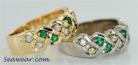 Celtic weave engagement ring