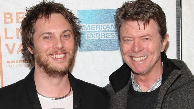 David Bowie with son Duncan Jones in 2009