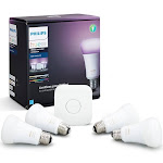 Philips Hue White and Color Ambiance Smart Bulb Starter Kit - 4 Bulbs